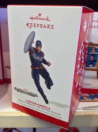 2014 hallmark ornaments spider captain america released