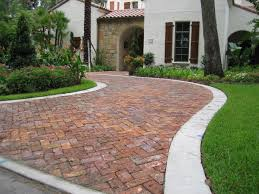 decor u0026 tips front yard with driveway pavers and paver bricks
