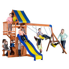 Playground Sets For Backyards by Playsets U0026 Swing Sets Parks Playsets U0026 Playhouses The Home Depot