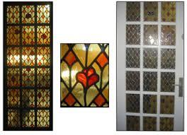 verre pour porte de cuisine création d un vitrail au plomb pour décorer une porte présenté