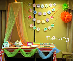 Baby Shower Table Setup by Turtlecraftygirl Bedtime Stories Baby Shower