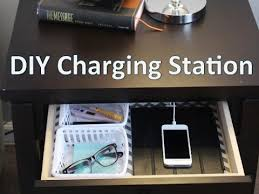 Nightstand Ipad Nightstand Organization Easy Diy Charging Station Youtube