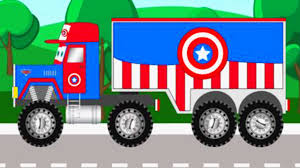 bigfoot meteor and the mighty monster trucks marvel superheroes trucks and monster truck captain america