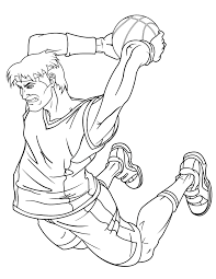 awesome slam dunk teenagers coloring u0026 coloring pages