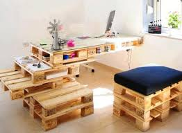 Diy Pallet Desk Wood Pallets Decoration Functionality Unique Pieces For Your