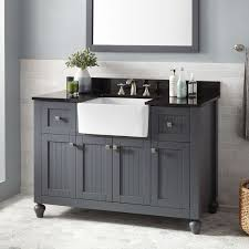 White Bathroom Cabinets With Dark Counter Tops Graceful White Bathroom Cabinets With Dark Countertops