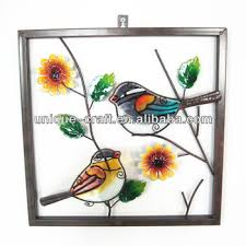 garden wall decoration glass painting designs of flowers buy