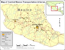 Leon Mexico Map by Steve U0027s Geomatics Blog Transportation Map Of Mexico