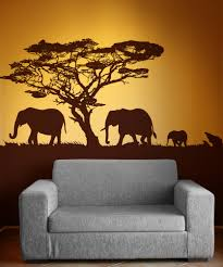 Fabric Wall Murals by Interior Modern Image Of Urban Jungle Elephant Wall Murals For