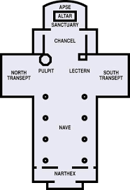 Church Floor Plan by Christian Symbols Cathedral Floor Plan