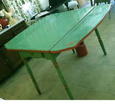 Best Vintage Enamel Or Formica Kitchen Tables And Chairs - Green kitchen table
