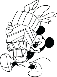coloring pages mickey mouse holding gifts clubhouse printable book