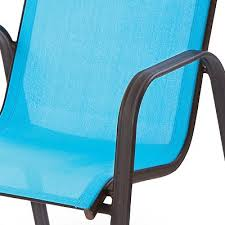 Turquoise Patio Chairs Blue Sling Patio Chair Outdoor Goods