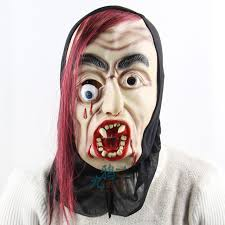 Super Scary Halloween Masks Free Shipping Halloween Super Scary Masks High Grade Red Hair And