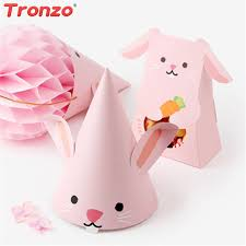 rabbit party supplies tronzo easter decoration party hat birthday party decorations kids