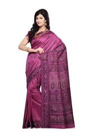 purple silk blouse purple baluchari silk saree with blouse from bishnupur