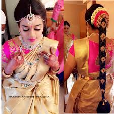 traditional bridal hairstyle artistry by olivia beauticians chennai planezy