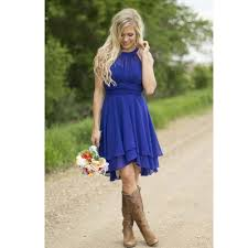 high low navy blue bridesmaid dresses with cowboy boots dress images