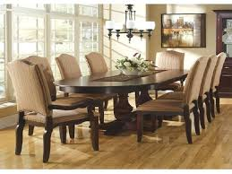 Round To Oval Dining Table Oval Dining Table Pedestal Base Two Toned With Tables Interesting