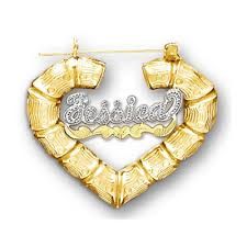 80s earrings gold name heart earrings this jewelry being big hit in the 80s