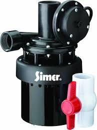 utility sink drain pump simer 2935b 1 3 hp utility sink sump pump amazon com
