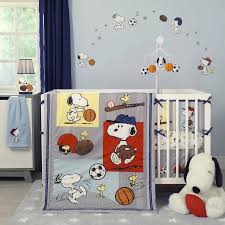 bedtime originals snoopy sports 3 crib bedding set walmart