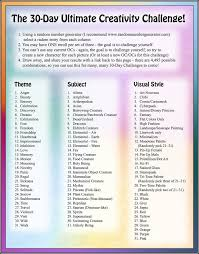 30 day ultimate creativity challenge by bluenephelim on deviantart