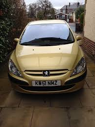 peugeot yellow 2002 51 plate peugeot 307 lx 16v auto sahara yellow 48 430
