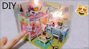 diy miniature dollhouse with full furniture sets u0026lights diy room