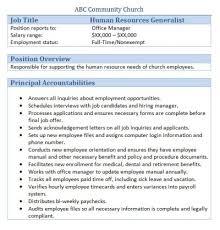 Human Resources Job Description Resume Administrative Human Resources Within Consultant Job Description