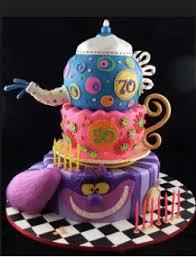 alice in wonderland cake decorations little birthday cakes