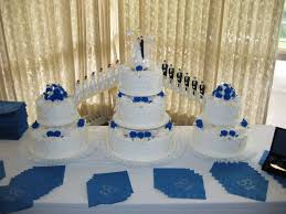 wedding cake royal blue royal blue wedding cake with fountains and bridges ipunya