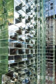 super strong glass bricks cover crystal houses by mvrdv in