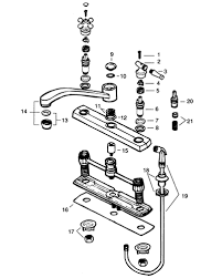 standard kitchen faucet parts diagram valley two handle kitchen faucet repair parts