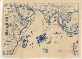 World War Ii Map by Japanese Map Of The Indian Ocean During World War Ii 1942 Maps