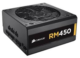 bureau corsair rm series rm450 450 watt 80 plus gold certified fully modular psu