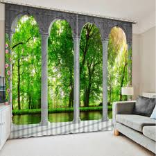online get cheap office door curtain aliexpress com alibaba group 3d curtains for living room blackout curtain landscape kitchen door curtains blackout curtains for the bedroom