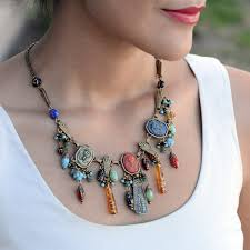 jewellery collar necklace images Art deco egyptian vintage goddess pharaoh collar necklace n305 jpg