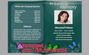 free funeral program template microsoft word free funeral program