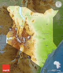 geographical map of kenya physical map of kenya darken