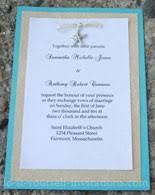 beachy wedding invitations diy wedding invitations