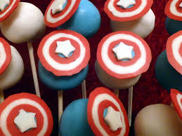captain america cake pops these were a custom order for a u2026 flickr