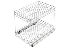 2 tier cabinet organizer roll out 2 tier cabinet organizer promart