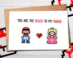 gamer valentines cards geeky mario card princess castle geeky