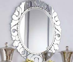Metal Framed Bathroom Mirrors by Elegant Oval Bathroom Mirrors With Metal Carving Framed Home