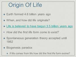 origin of earth formed 4 6 billion years ago when and how
