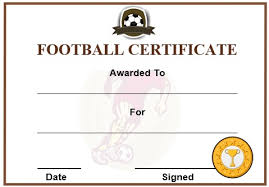 football certificate template 30 free printable football