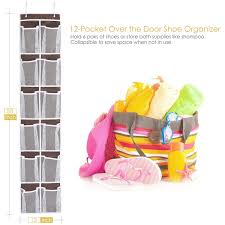 Over The Door Bathroom Organizer by Over The Door Shoe Organizer Maidmax 12 Pockets Single Sided