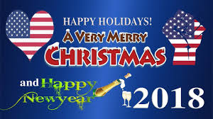 usa happy holidays merry a happy new year 2018