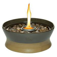 shop tiki clean burn 10 in chocolate ceramic tabletop torch at